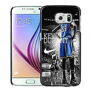 Oklahoma City Thunder Kevin Durant 3 Black Fashionable Design Samsung Galaxy S6 G9200 Plastic Case