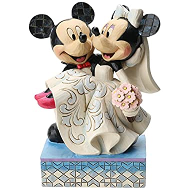 Disney Traditions by Jim Shore Mickey and Minnie Wedding Figurine  Congratulations  (4033282)