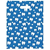 Practicon 11096145 Molar Scatter Print Bag, 9'' x 12'' (Pack of 100)
