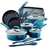 Rachael Ray 14pc NonStick Cookware Set Marine Blue Pots & Pans Deal
