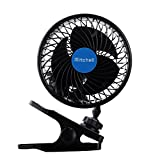 Jhua 12V 6 inch Car Clip Fan Automobile Vehicle Cooling Car Fan Powerful Quiet Speedless Ventilation Electric Car Fans With Clip Cigarette Lighter Plug for Summer