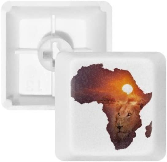 Lion Prairie African Continent Name Map Keycap Mechanical Keyboard PBT Gaming Upgrade Kit