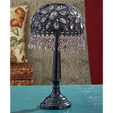 The Lakeside Collection Beaded Tea Light Candle Holder - Black