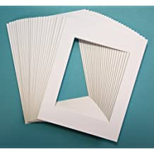 Pack of 25 sets of 11x14 WHITE Picture Mats Mattes Matting for 8x10 Photo + Backing + Bags