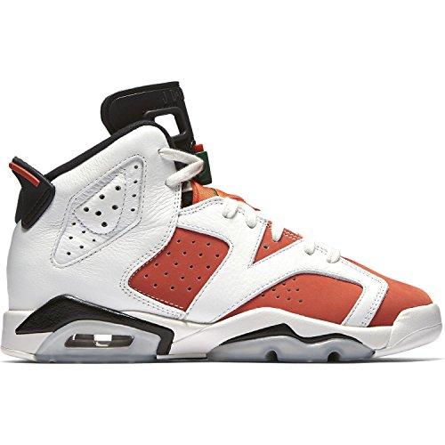 82d44943afe Galleon - Jordan Air 6 Retro Big Kids  Basketball Shoes Summit White Team  Orange-Black 384665-145 (4 M US)