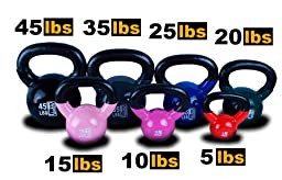 New MTN 25 lbs (1pc) Vinyl Coated Cast Iron Kettlebell (Kettle Bell) - Lowest Price, Fastest Priority Shipment