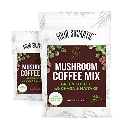 Four Sigmatic Mushroom Coffee Mix Green Coffee w/Chaga & Maitake, 10 Servings (2)