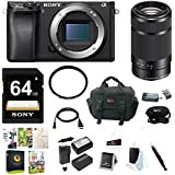Sony a6300 Mirrorless Digital Camera Body Bundle (55-210mm Lens Bundle)