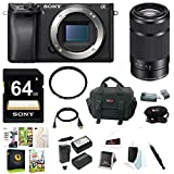 Sony a6300 Mirrorless Digital Camera w/E 55-210mm f/4.5-6.3 OSS E-Mount Lens & 64 GB SD Memory Card Bundle For Sale