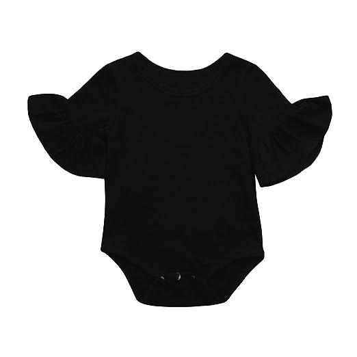 382dd1b55a02 Amazon.com  0-24 Months Newborn Infant Baby Girls Romper