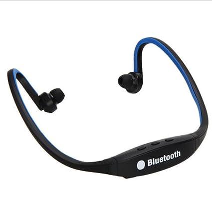 CALISTOUK Auriculares inalámbricos Bluetooth estéreo manos libres auriculares deportivos para iPhone azul