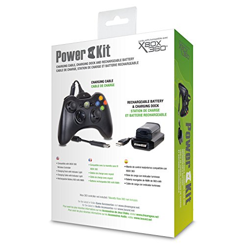 dreamGEAR – Power Kit (charging cable + rechargeable battery + charging dock) - play while you charge! – for Xbox 360 by dreamGEAR (Image #2)