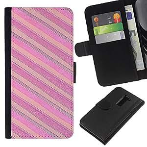 EJOY---La carpeta del tirón la caja de cuero de alta calidad de la PU Caso protector / LG G2 D800 / --Rosa Púrpura Horizontal
