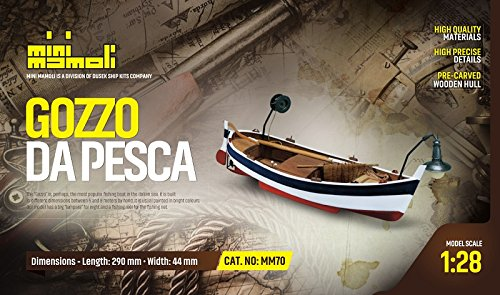 MINI MAMOLI - Modello kit Barca GOZZO DA Pesca Serie Scala 1:28 - DUS_MM70
