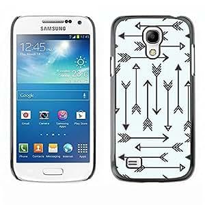 Be Good Phone Accessory // Dura Cáscara cubierta Protectora Caso Carcasa Funda de Protección para Samsung Galaxy S4 Mini i9190 MINI VERSION! // Tribal Archery Love Pattern Minimalis