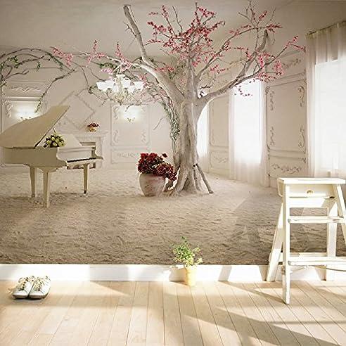 ohcde dheark moderne kunst klavier ast fototapete esszimmer wohnzimmer sofa hintergrund wandmalerei 3d wandbild papel de - Esszimmer Kunst