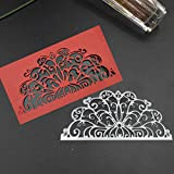 Metal Cutting Dies for Card Making, NOMSOCR Cut Die Metal Stencil Template Mould for DIY Scrapbook Embossing Album Paper Card Craft Birthday Festival Decoration (Silver)