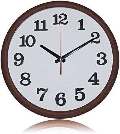 Jedfild Reloj de Pared Redondo Minimalista Elegante DE 12 Pulgadas, cafetera B: Amazon.es: Hogar