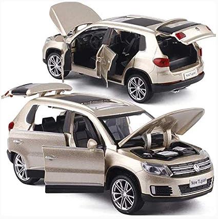 Musique Flash Six Porte Ouverte Enfants Die Cast M/étal Jouets 32 Alliage SUV Pull Back Jouet Mod/èle De Voiture Model Cars,dor 1