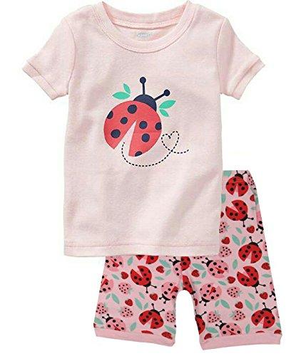 Babyroom Girls Short Pajamas Toddler Kids Pjs 100% Cotton Sleepwear Summer Clothes Shirts