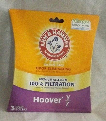 Arm and Hammer Premium Vacuum Bags - Hoover Y/Z - Pack of 3