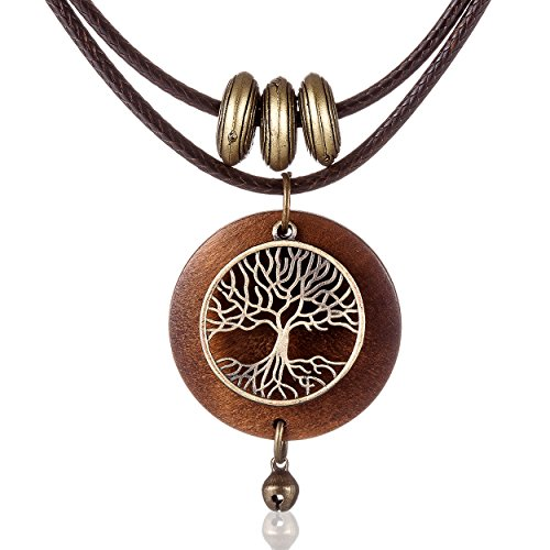 - Vintage Woman Jewelry Chokers Life of Tree Pendant Long necklace women gift colar