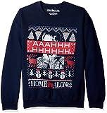 Home Alone Men's Aaahhh Ugly Christmas Sweatshirt, Navy, Large