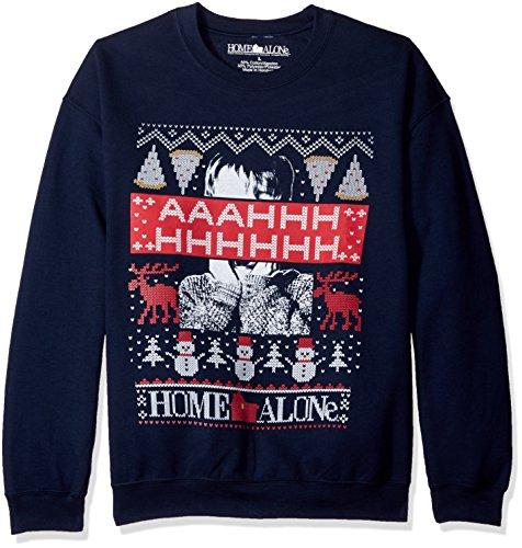 Home Alone Men's Aaahhh Ugly Christmas Sweatshirt, Navy, 2X-Large (Christmas Men)