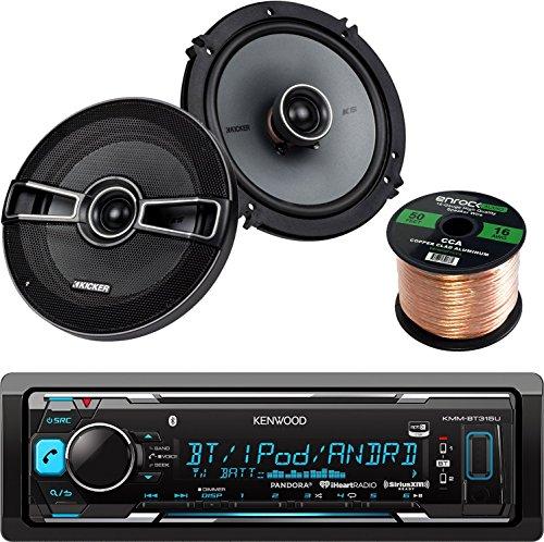 Kenwood KMM-BT315U Car In Dash Bluetooth Stereo Digital MP3 Receiver Sirius XM (Poly Planar Cd)