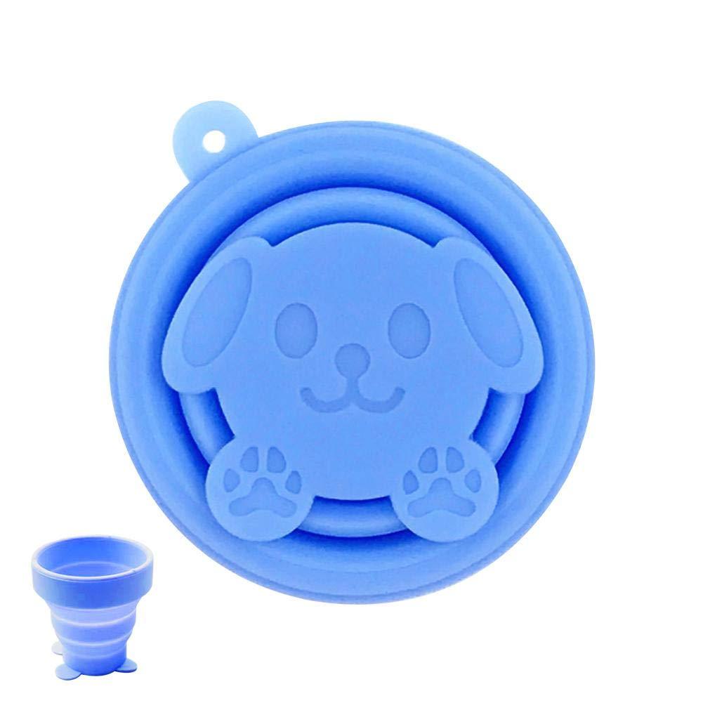 miraculocy Vaso Plegable Taza De Viaje Plegable Taza De Agua Plegable De Silicona con Tapa para Acampar Senderismo Picnic