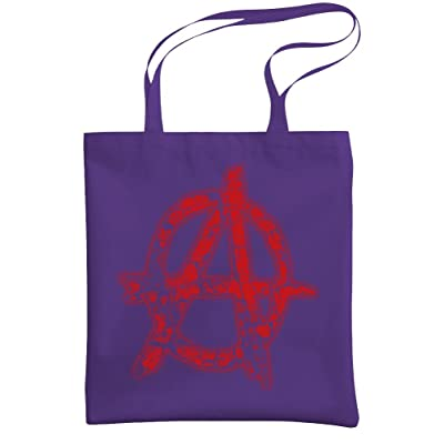 ANARCHY - evil government fake news - Heavy Duty Tote Bag, Purple