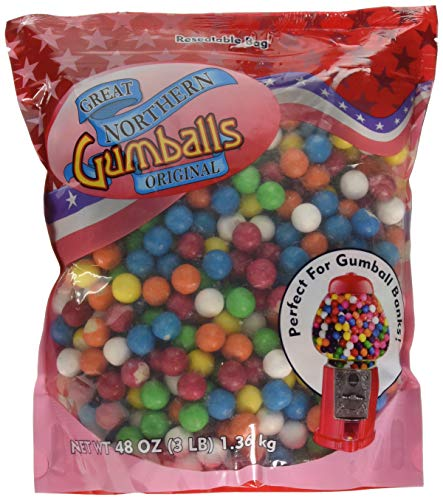 - 6261 Great Northern Original .5 Inch Gumballs Refills 3 Pound Bag For Gumball Machine