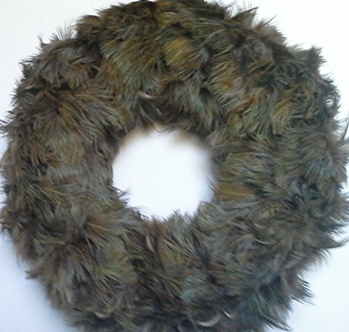 Natural Blue Pheasant Feather Wreath - Very Unique ! - Pheasant Feather Wreaths