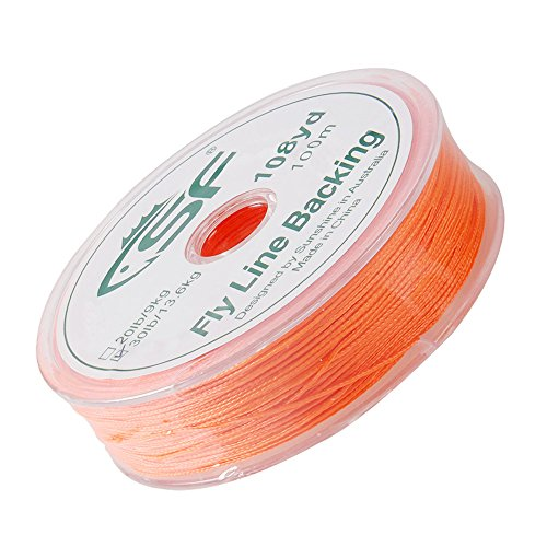 - SF Braided Fly Fishing Trout Line Backing Line 30LB 300m/328yds Orange