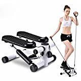 HUKOER Health Fitness Mini Stepper Foot Pedal Machine Home Stair Stepper Equipment Mute Step Machine Portable Stepping Machine with Resistance Bands