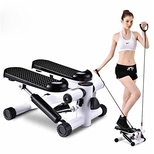 HUKOER Health Fitness Mini Stepper Foot Pedal Machine Home Stair Stepper Equipment Mute Step Machine Portable Stepping Machine with Resistance Bands by HUKOER