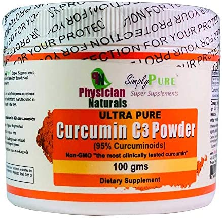 Ultra Pure Curcumin C3 Powder 100 Pure Curcumin Turmeric Extract 100 GMS 11X Absorption Joint Support and Immune Health