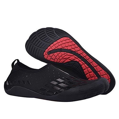 Cior Fantiny Män Vatten Skor Utomhus Sport Slip På Sneakers 14 Hål Dräneringssystem Snabbtorkande Och Multifunktionella L.black
