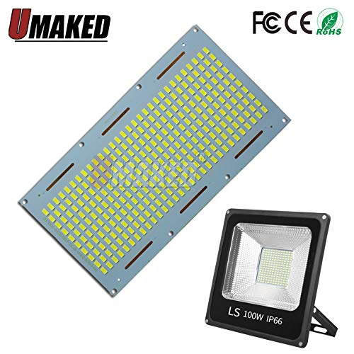 Pukido led floodling Lighting Source, SMD5730 chip Aluminum Plate Base, Full Power 10W 20W 30W 50W 100W 150W for floodlight - (Emitting Color: 150W 196x106mm, Wattage: Warm White 3000K) -