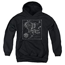Youth Hoodie: Lord Of The Rings- Middle Earth Map Pullover Hoodie
