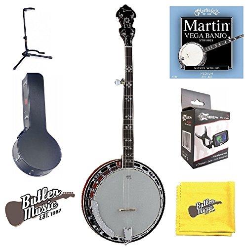Dean Backwoods Banjo (Dean Backwoods BW5 5 string Banjo, Mahog. Resonator w/Hard Case and More)