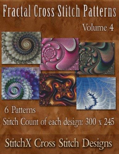 Black Fractal Pattern - Fractal Cross Stitch Patterns Volume 4 (Fractal Cross Stitch Collection)