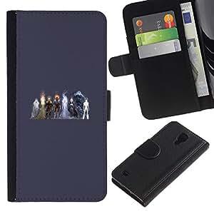 NEECELL GIFT forCITY // Billetera de cuero Caso Cubierta de protección Carcasa / Leather Wallet Case for Samsung Galaxy S4 IV I9500 // Elementos Heros