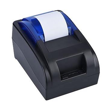 Kafuty Impresora Térmica de Recibos USB de 58mm, Impresión ...