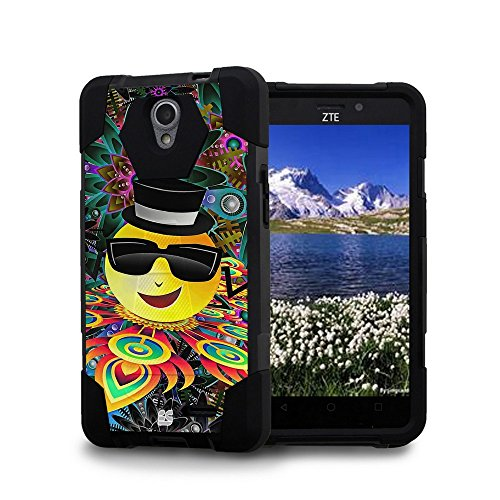 Spots8 Case For ZTE Prestige, Avid Plus, ZFive 2, Avid Trio, Sonata 3, Maven 2, Chapel, Slim Fit Heavy Duty Protection Case with Kickstand [Cool Sunglasses - Sunglasses Chapel