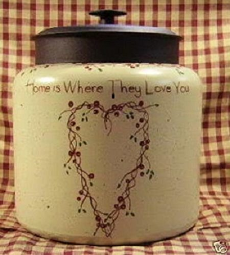 Cookie Jar/ Centerpiece Home is Where They Love You Pip Berry Heart
