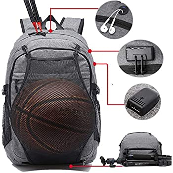 a5ca56c51a Amazon.com  Loiee Business Water Resistant Basketball Backpack with ...