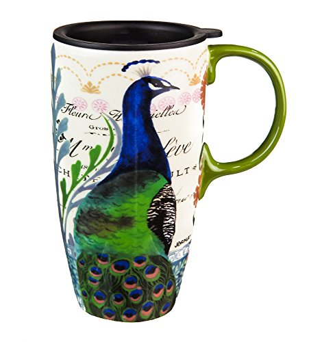 Proud Peacocks Boxed Ceramic Travel