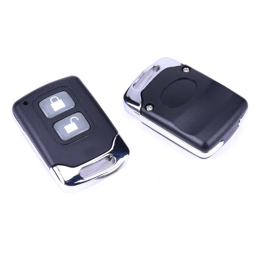 TOOGOO Universal Auto Alarmanlagen Auto Fernbedienung Zentralverriegelung Tuerschloss Verriegelung Fahrzeug Keyless Entry System mit 2 Fernbedienungen