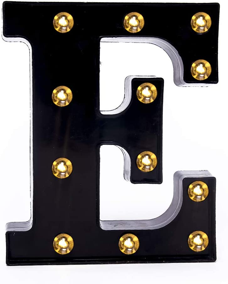 Foaky Black LED Marquee Number Lights Sign Light Up Marquee Number Lights Sign for Night Light Wedding Birthday Party Battery Powered Christmas Lamp Home Bar Decoration